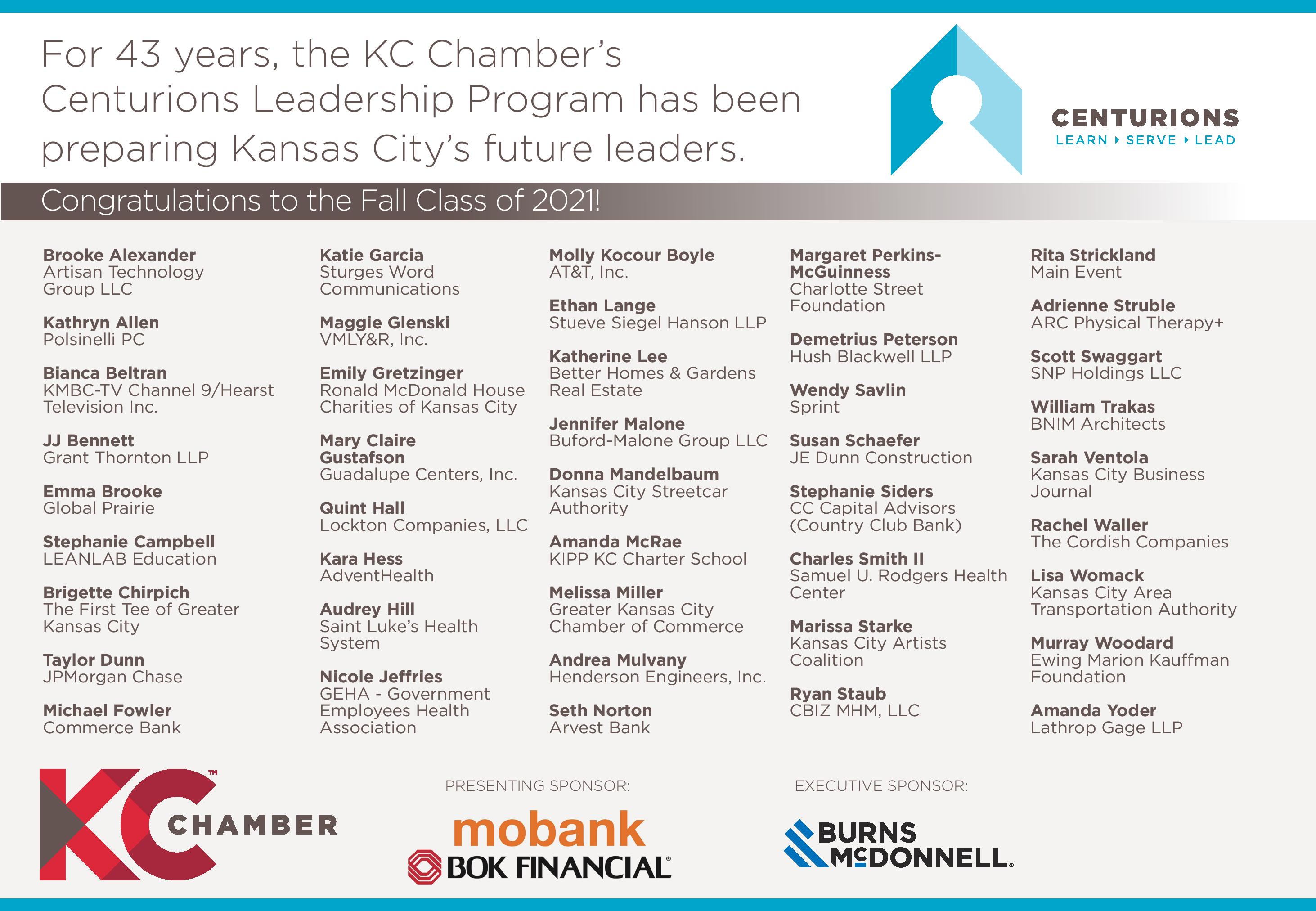 Centurions NOW July 15 2019 | Greater Kansas City Chamber of Commerce