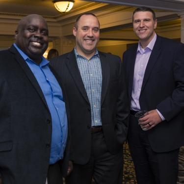 Businessmen Networking at KC Chamber Event