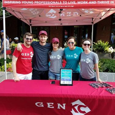 genKC table at outdoor event