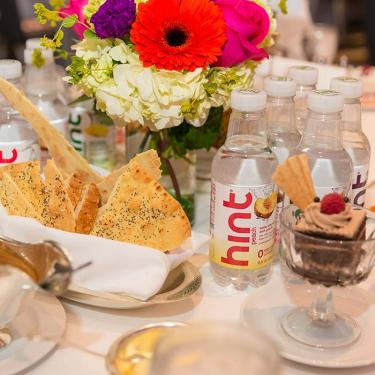 Small Business Celebration 2018, Table with Food and Flowers